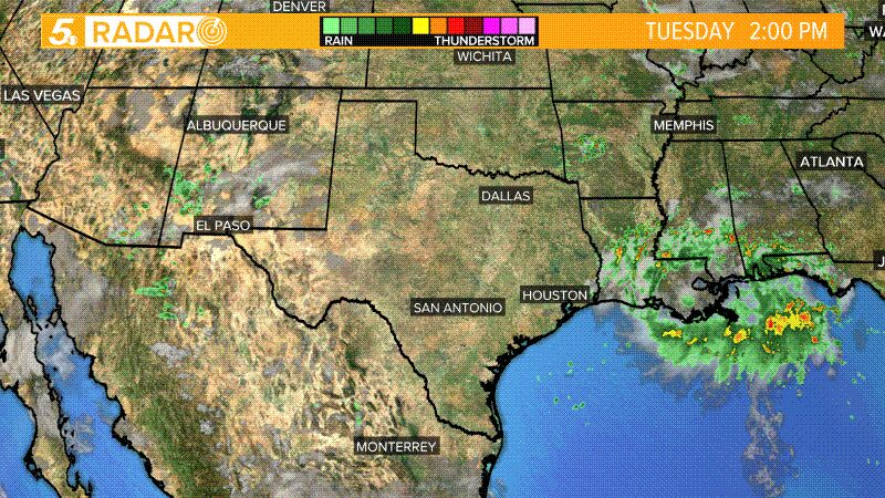 Texas Satellite Radar