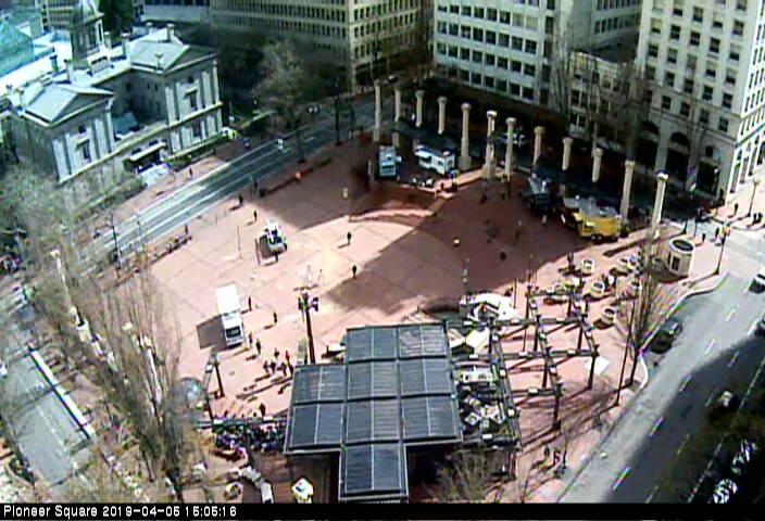 Portland Pioneer Square Webcam Image