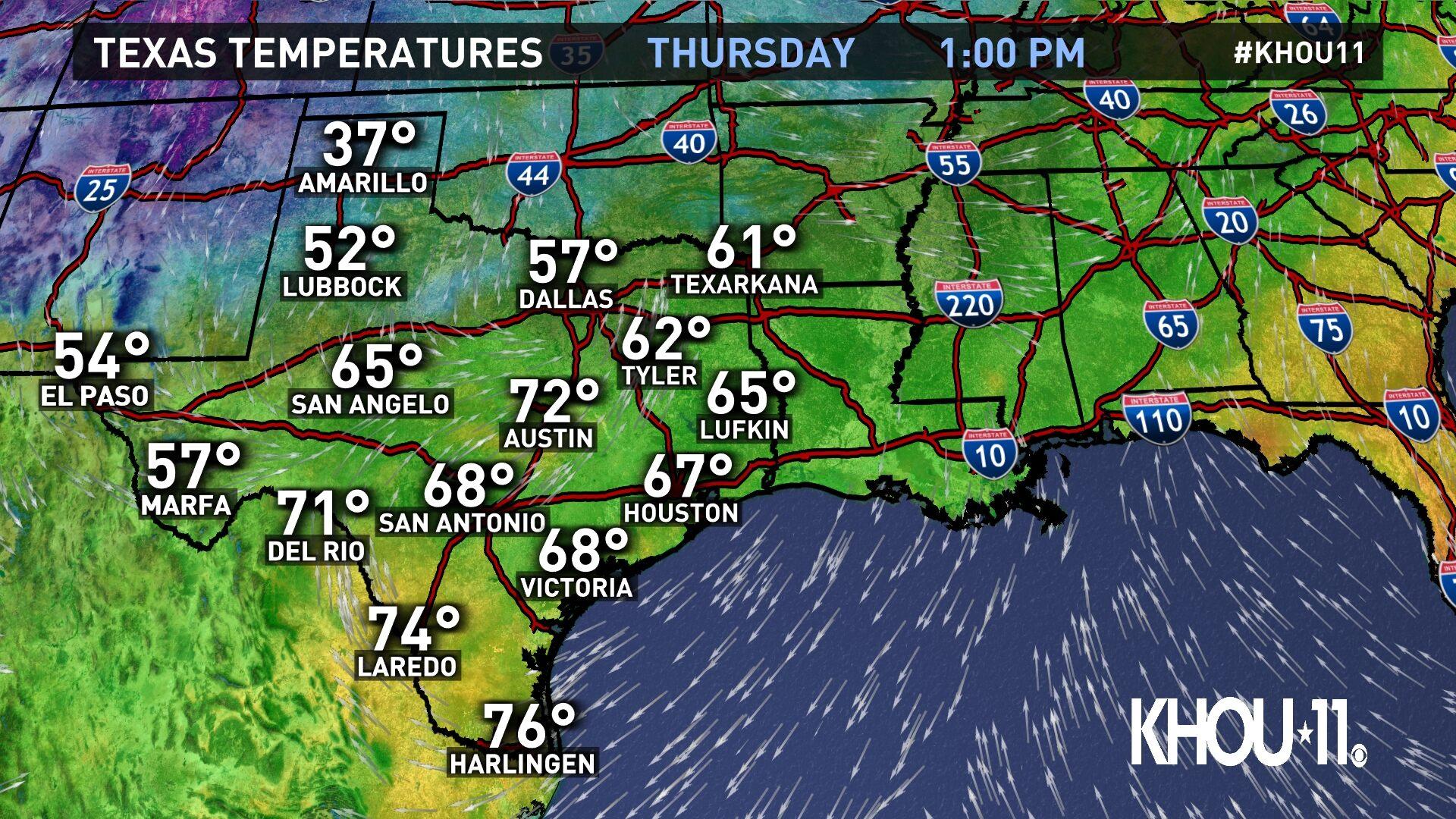 Texas Temps
