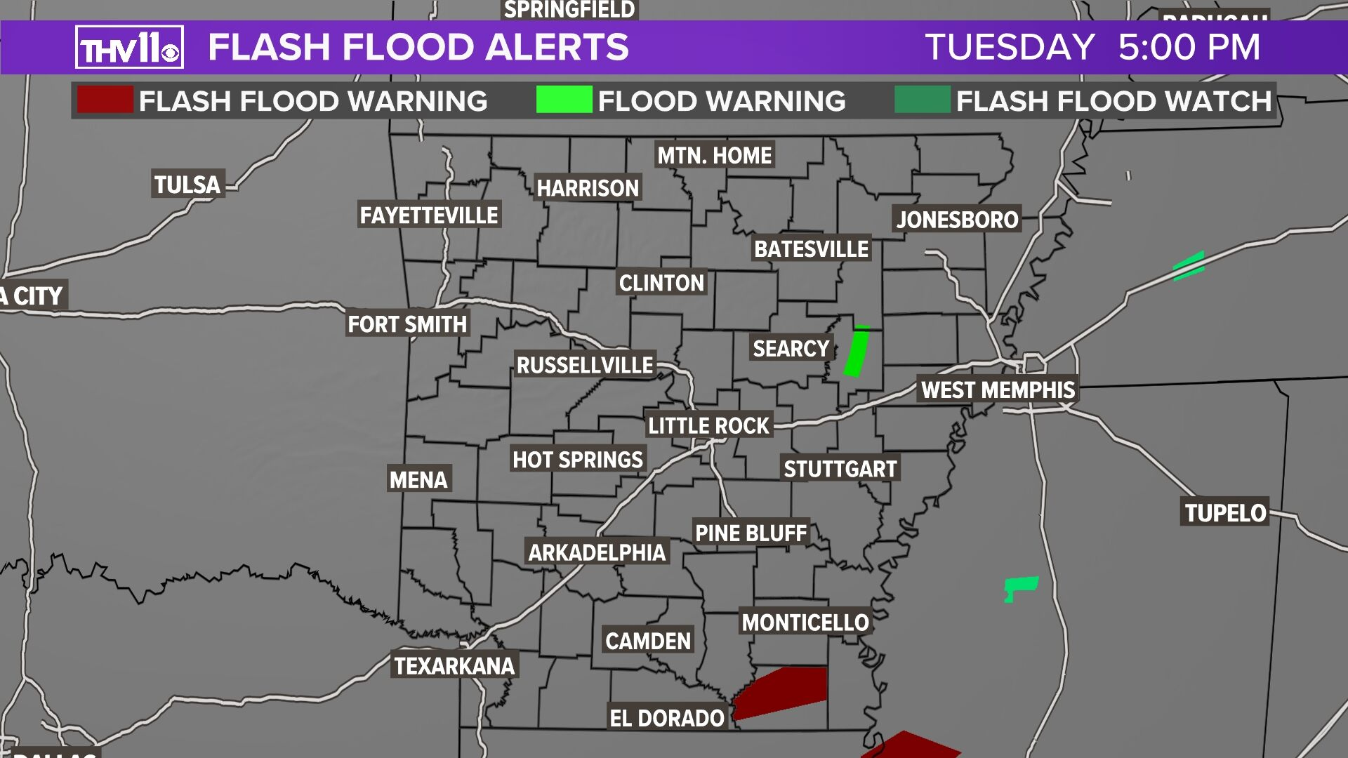 Flash Flood Watches-Warnings
