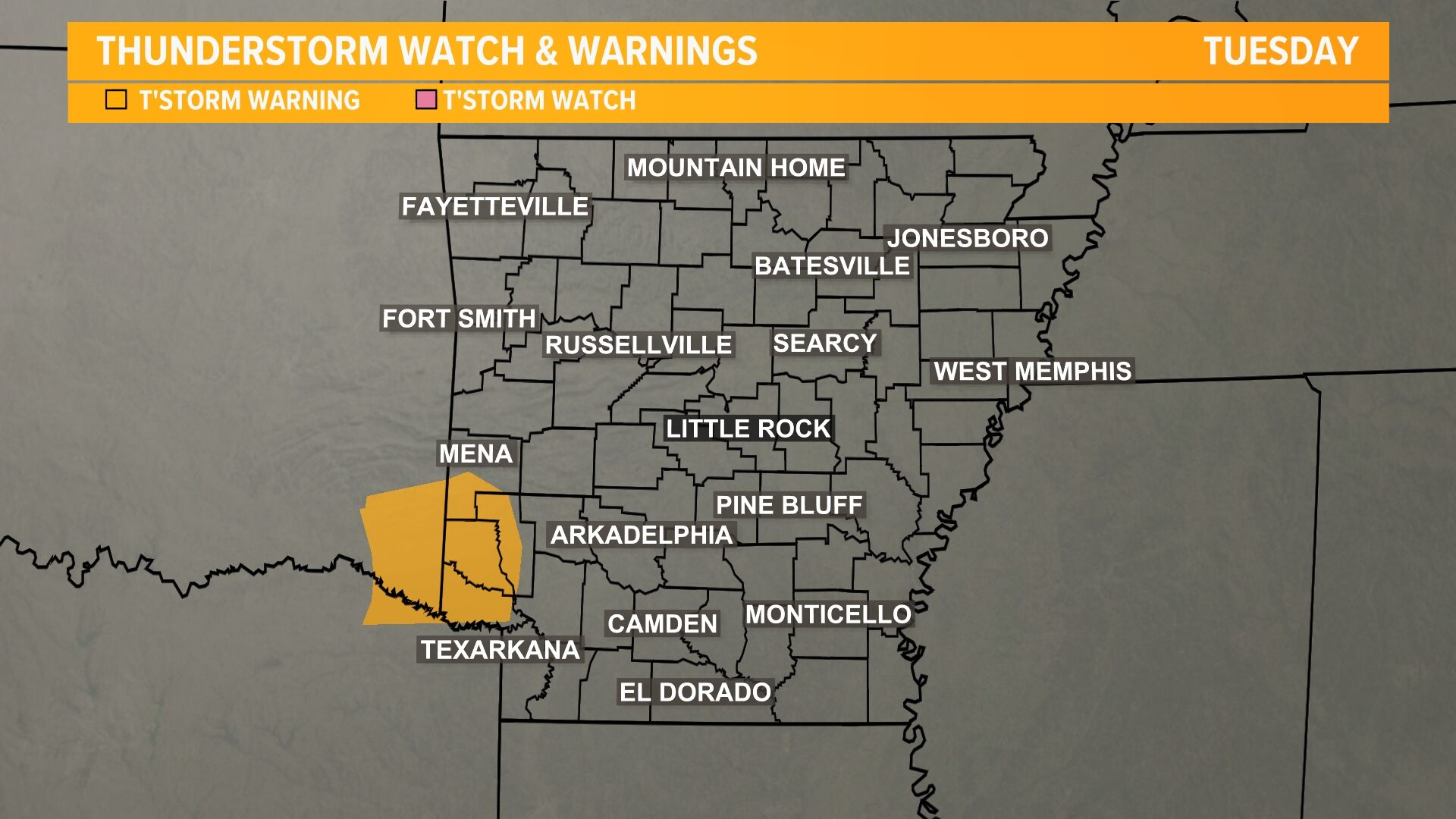 Severe Thunderstorm Watches-Warnings
