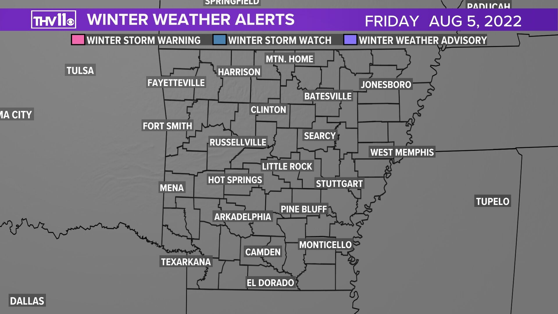 Winter Weather Watches and Warnings
