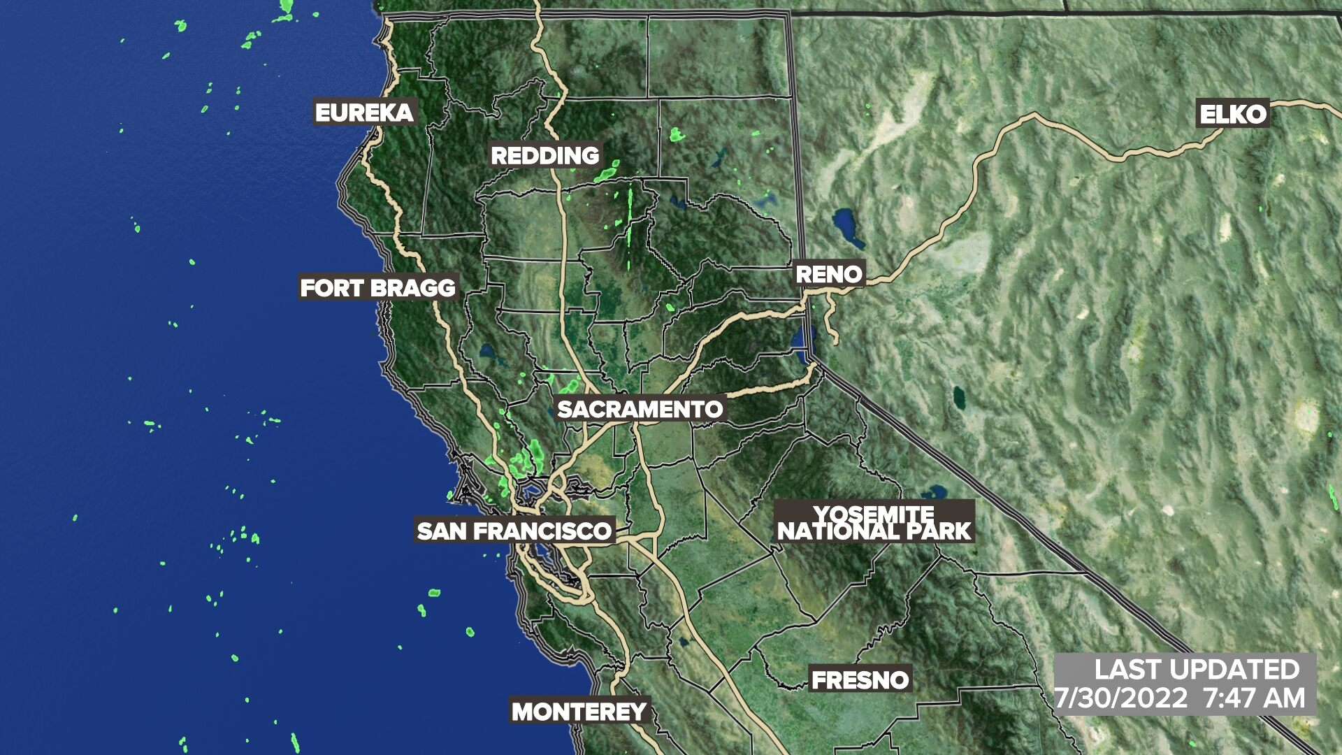 Northern California Satellite Radar