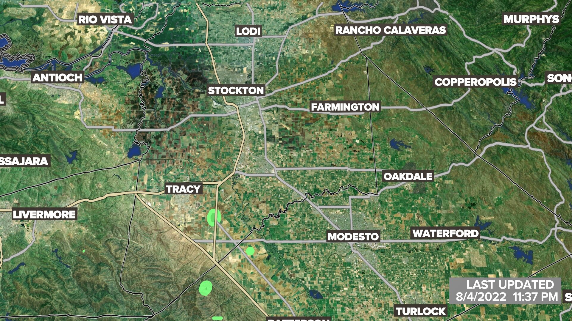 Stockton-Modesto Satellite Radar