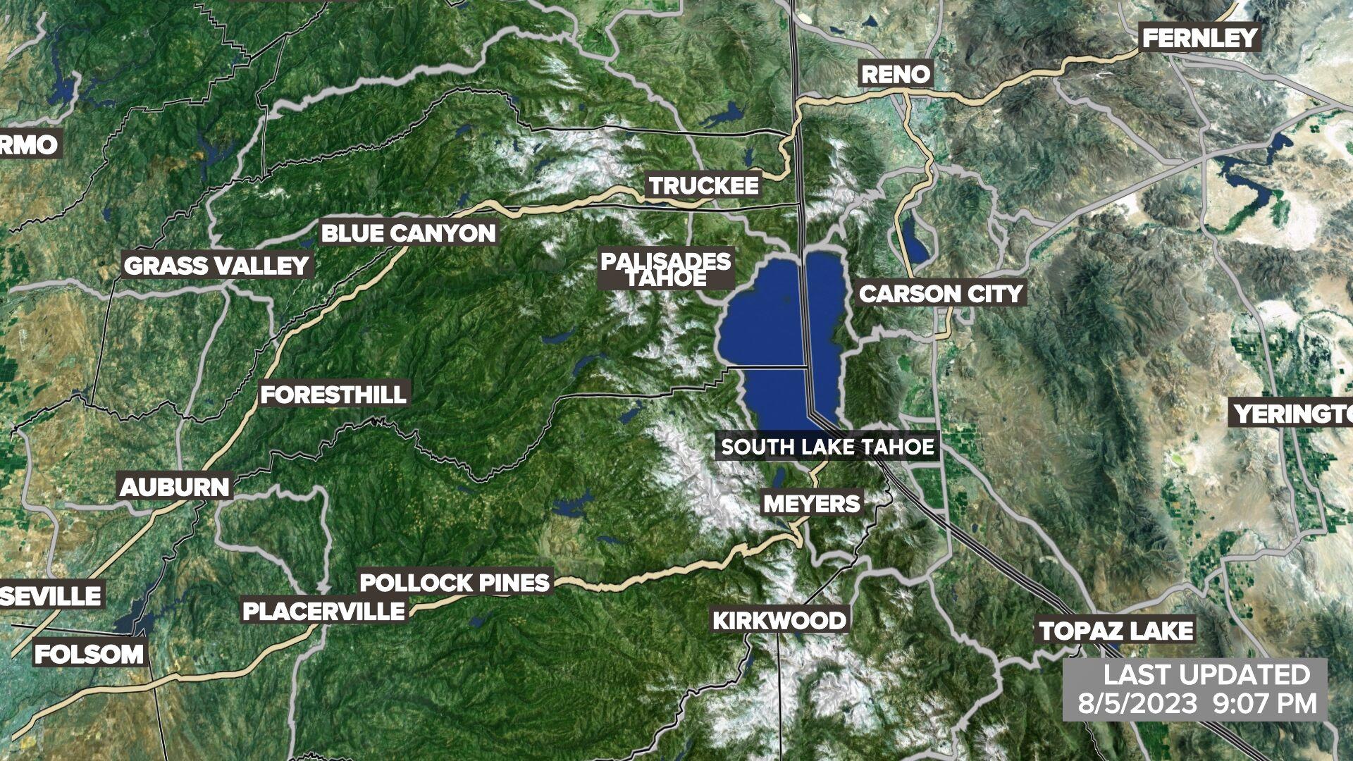 Lake Tahoe Satellite Radar
