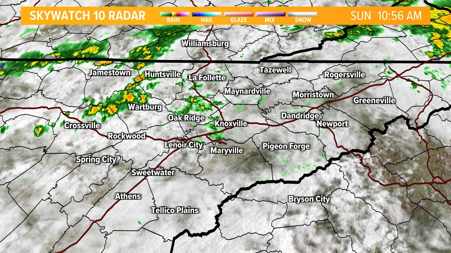 East Tennessee Maps On WBIR In Knoxville WBIRcom - Us radar weather map online