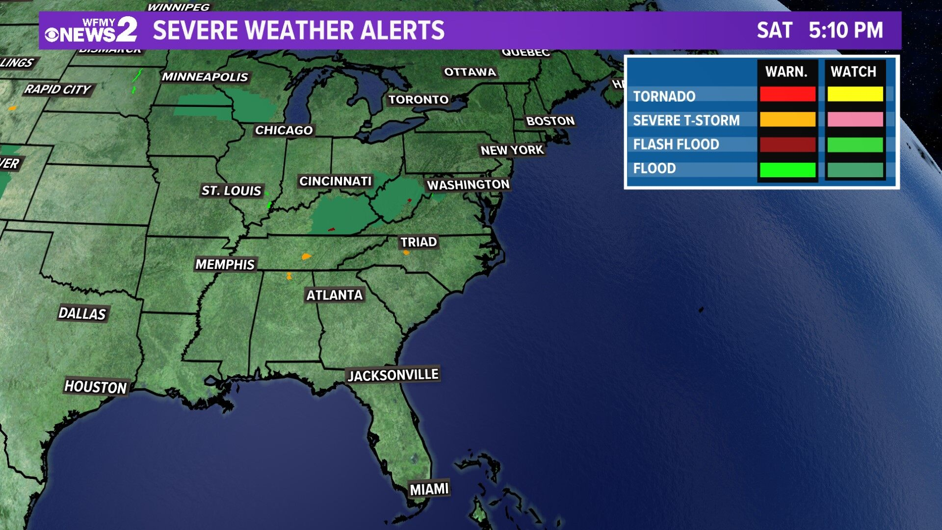 Regional Severe Weather Alerts