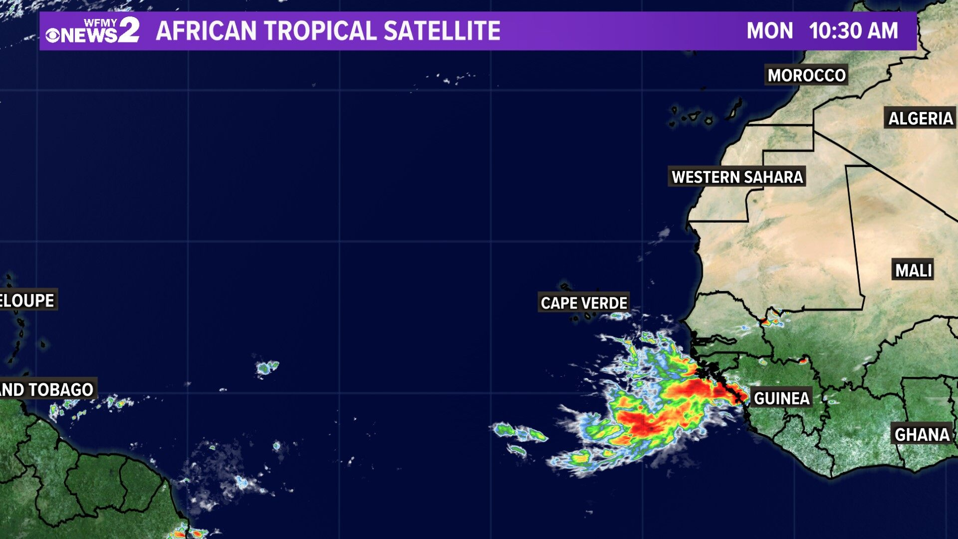 Tropical Satellite African Coast