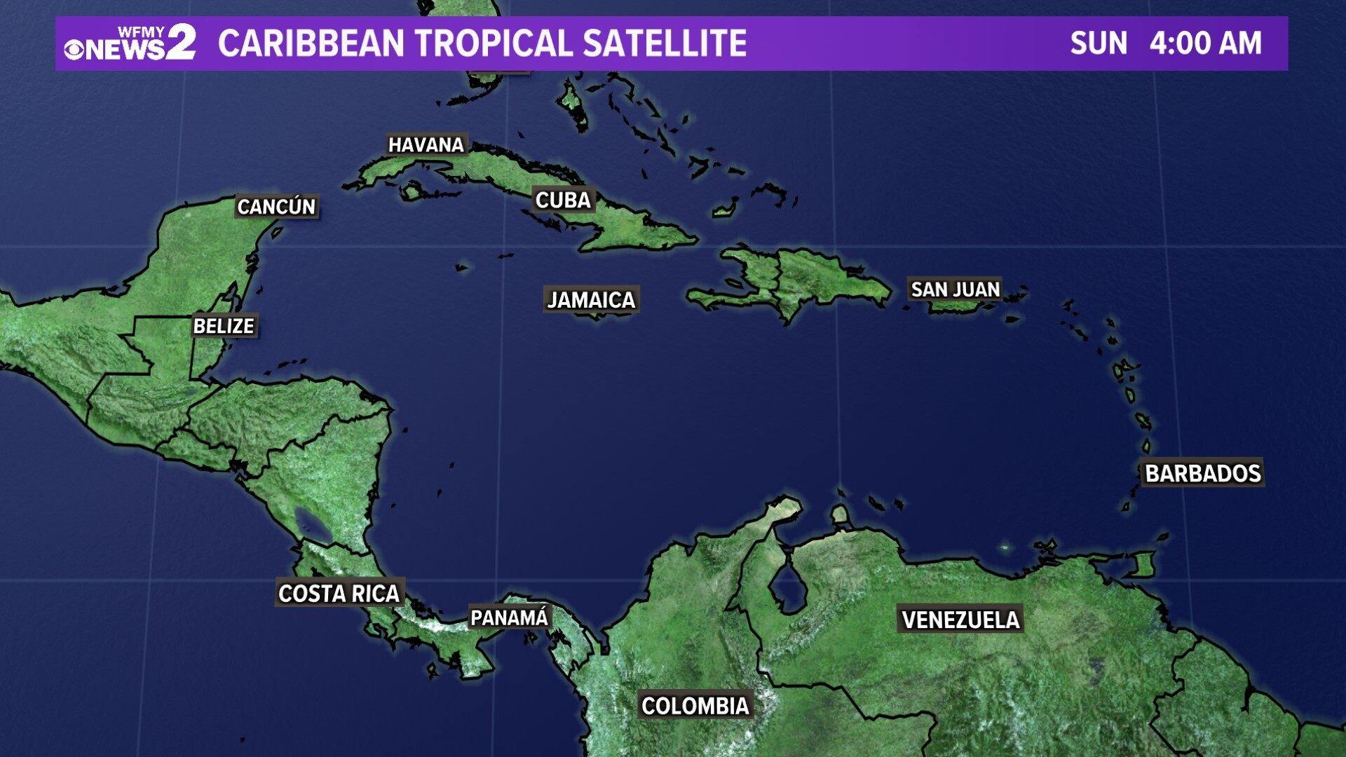 Tropical Satellite Caribbean