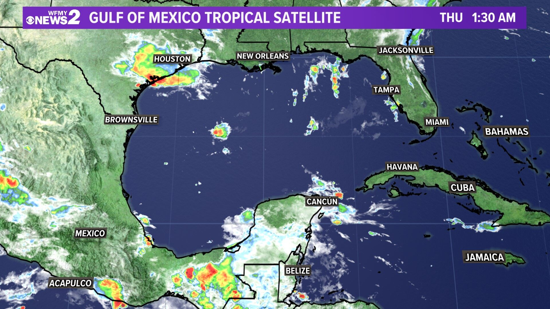 Tropical Satellite Gulf of Mexico