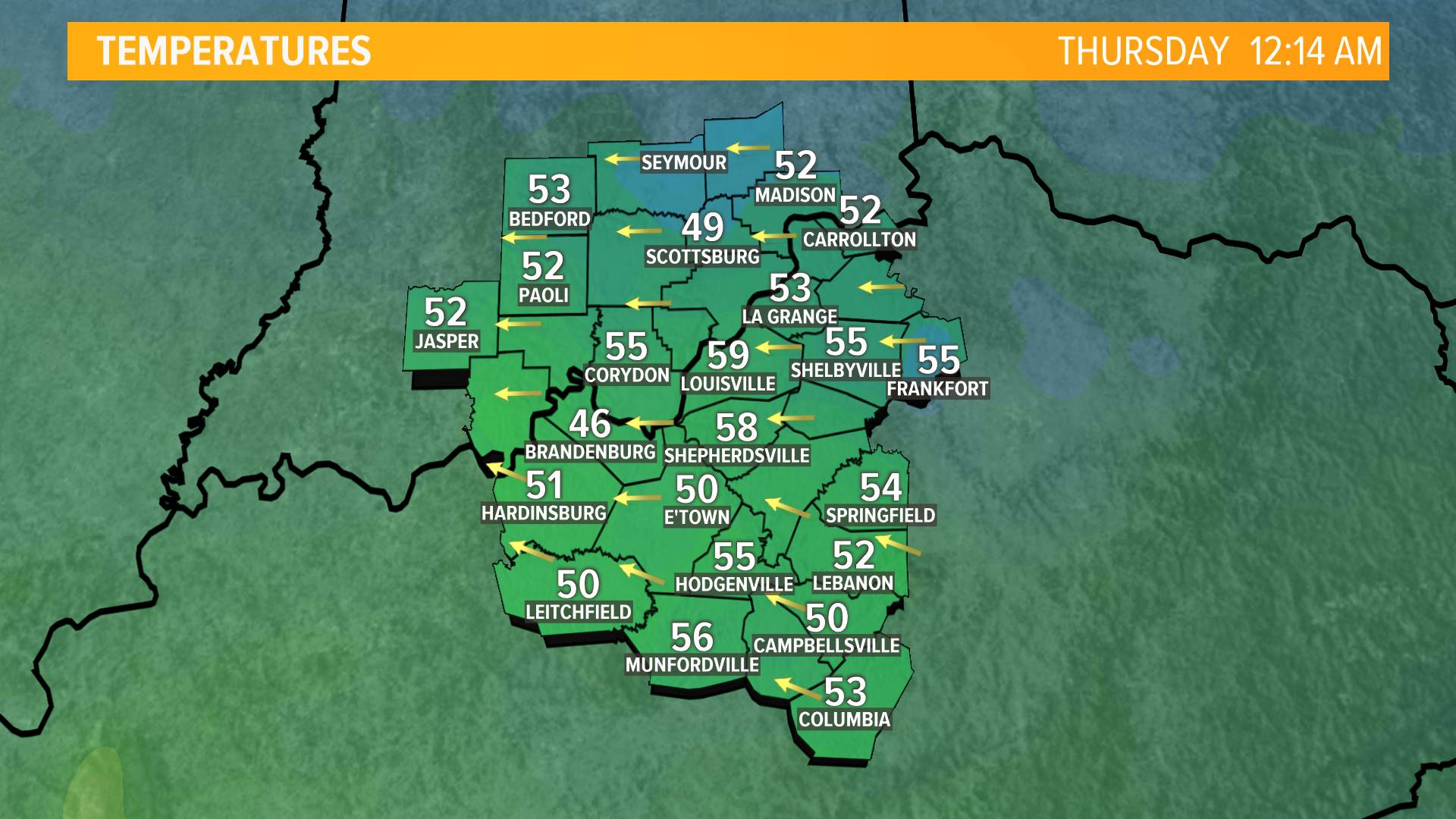 Ohio Valley Temps