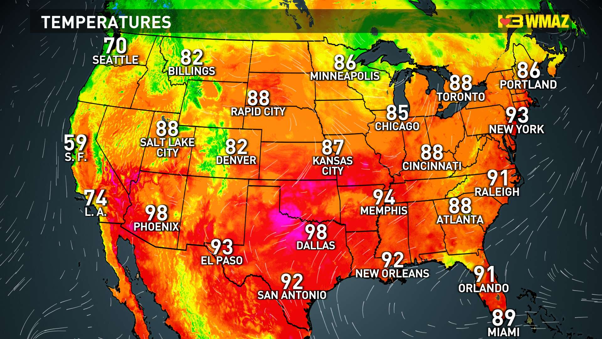 Current U.S. Temps