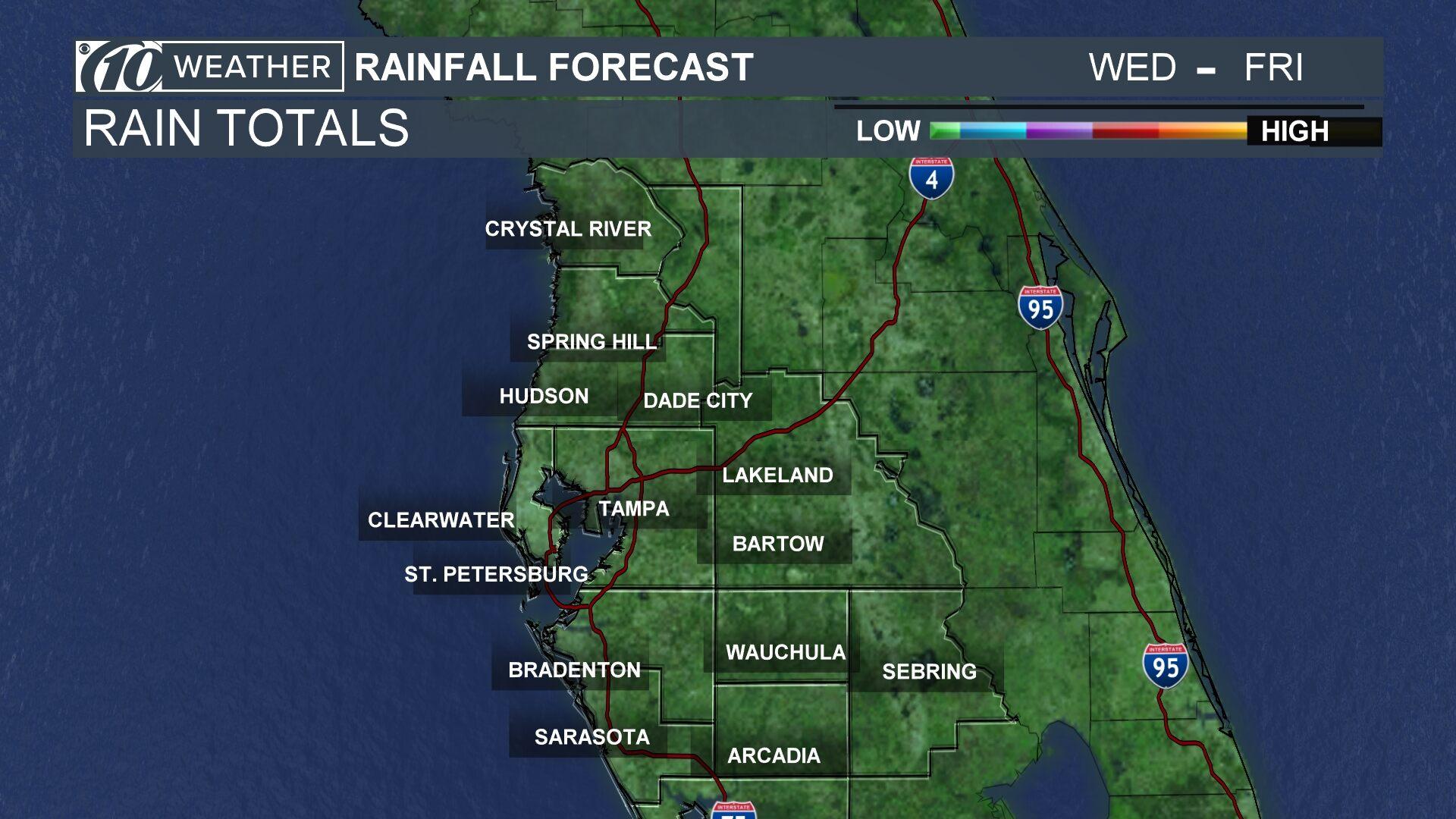 Rain Fall Totals