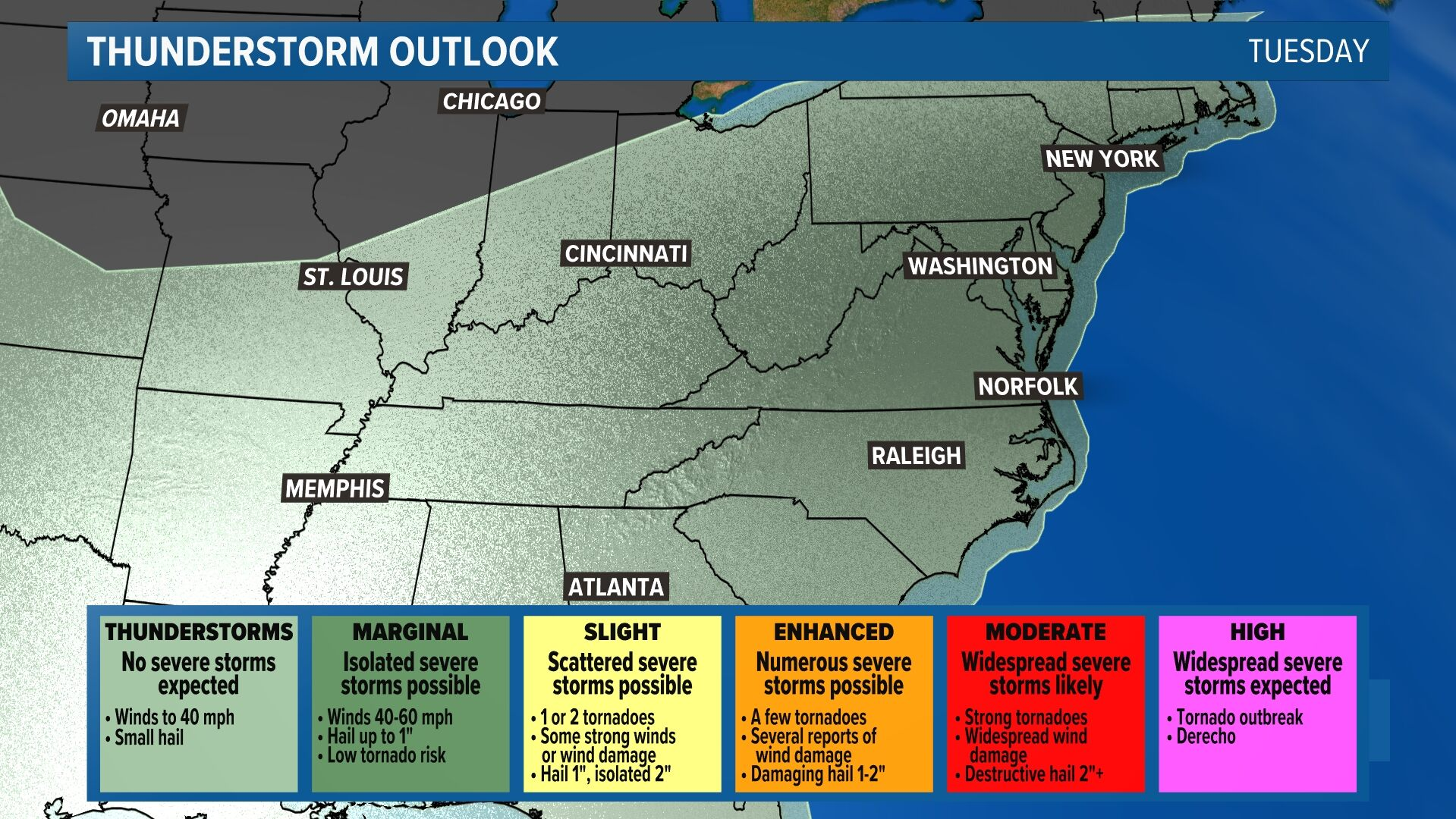 Severe Storm Outlook - Day 3