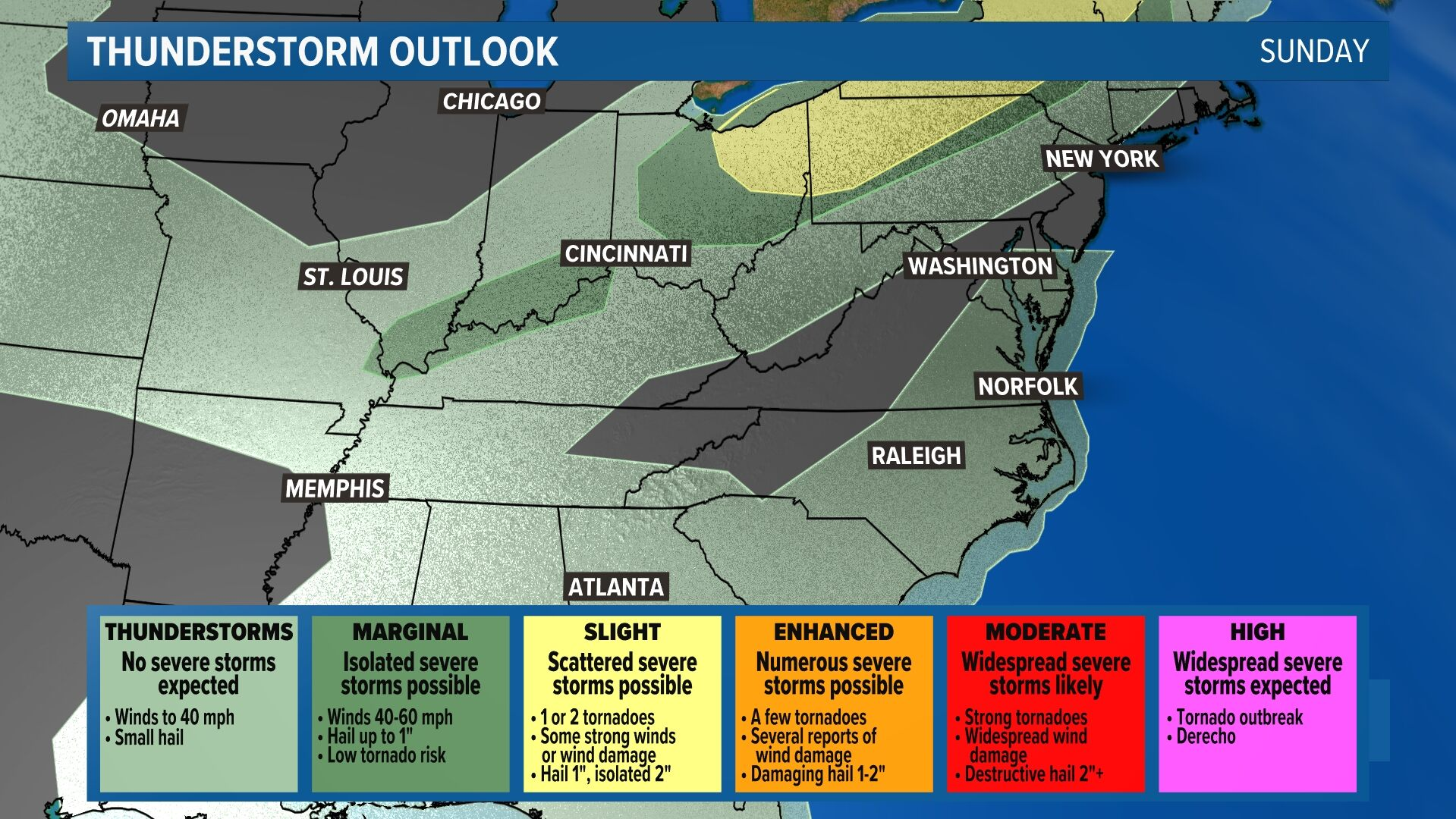 Severe Storm Outlook - Today