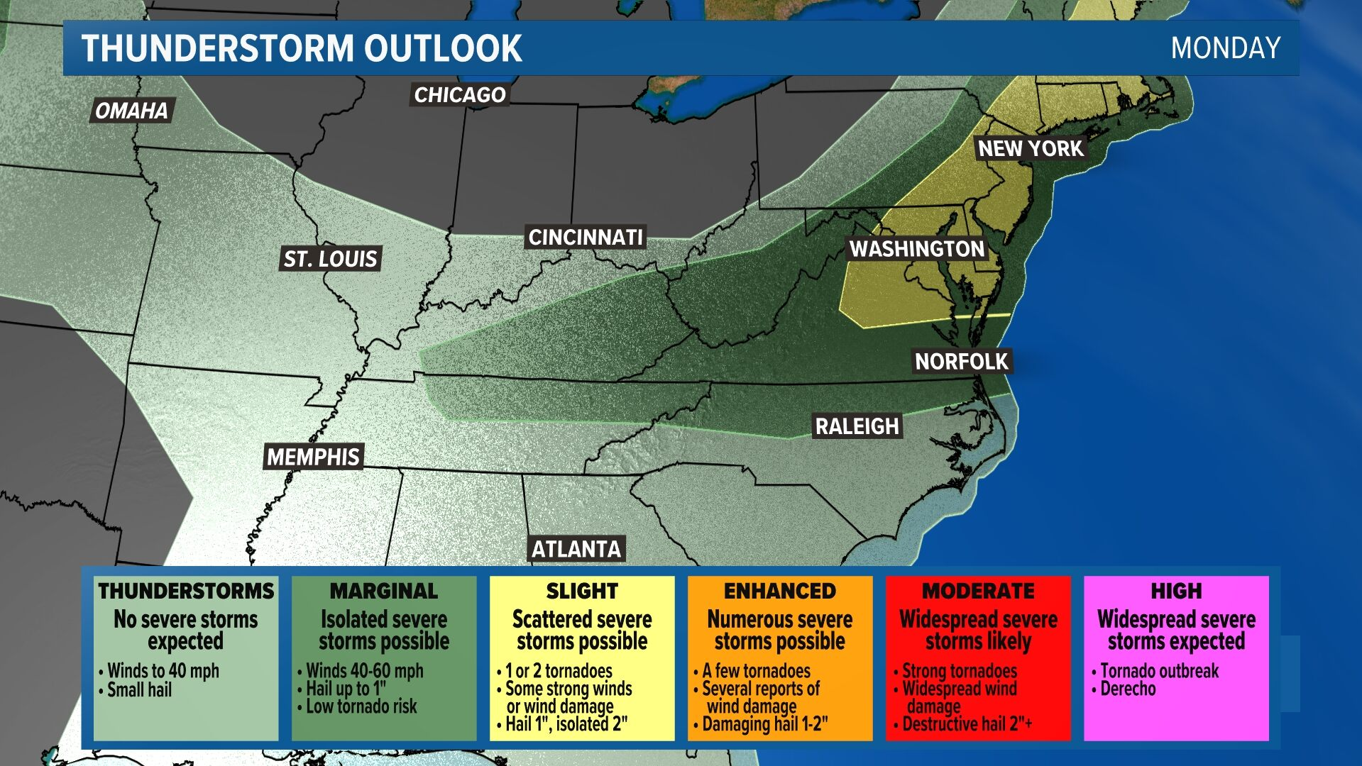 Severe Storm Outlook - Tomorrow