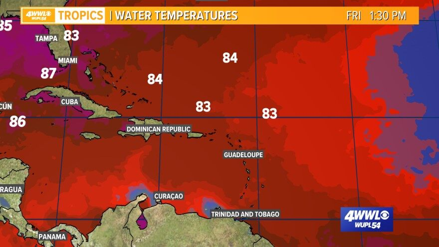 Caribbean Sea Temperatures