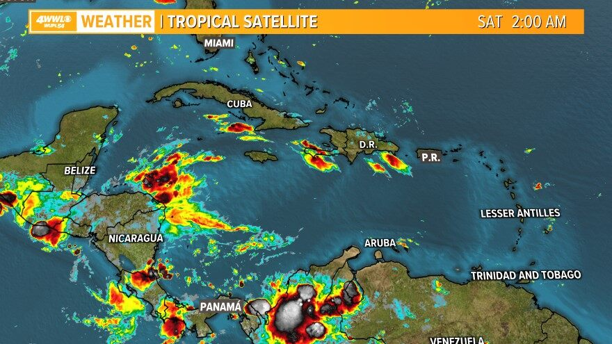 Infrared Caribbean Satellite
