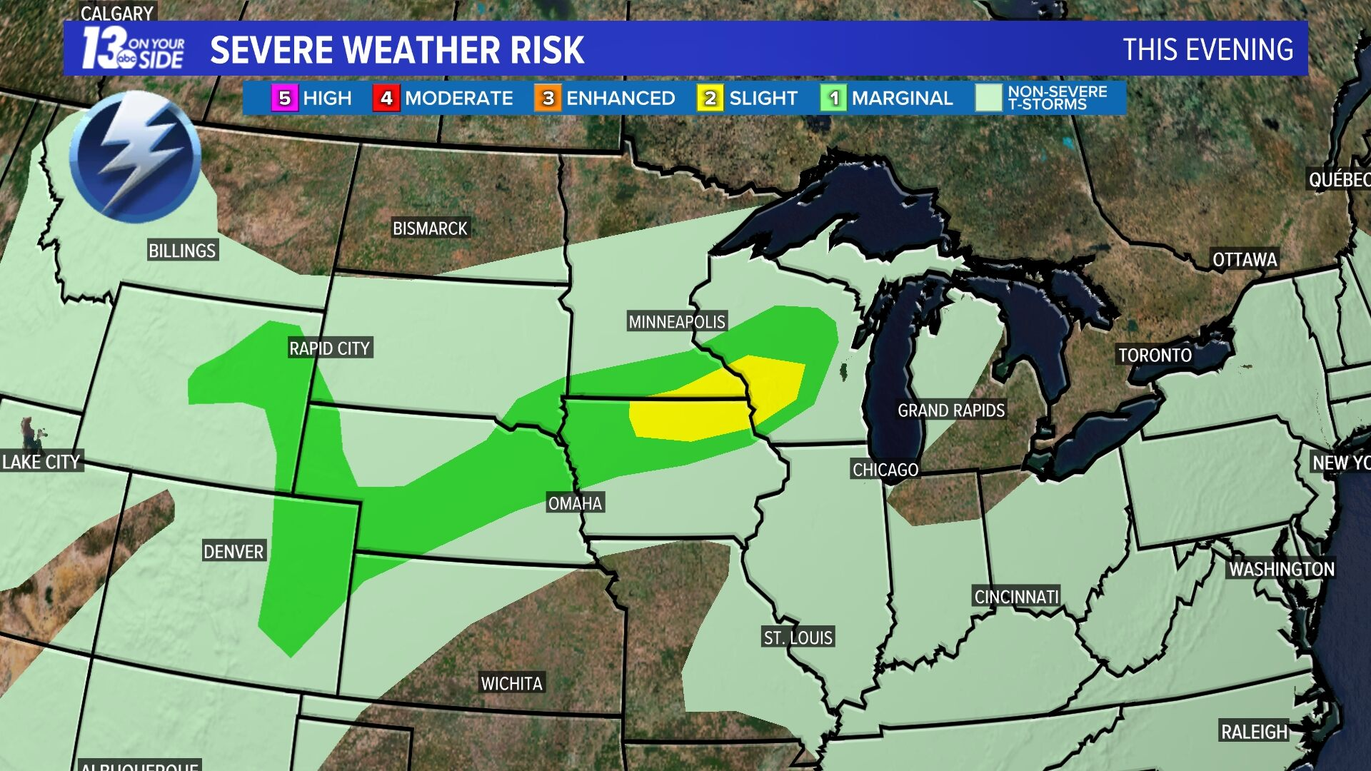 Today Severe Weather Risk - Today
