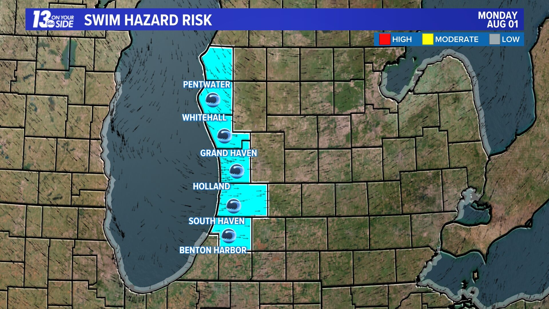 Lake Michigan Rip Current Risk