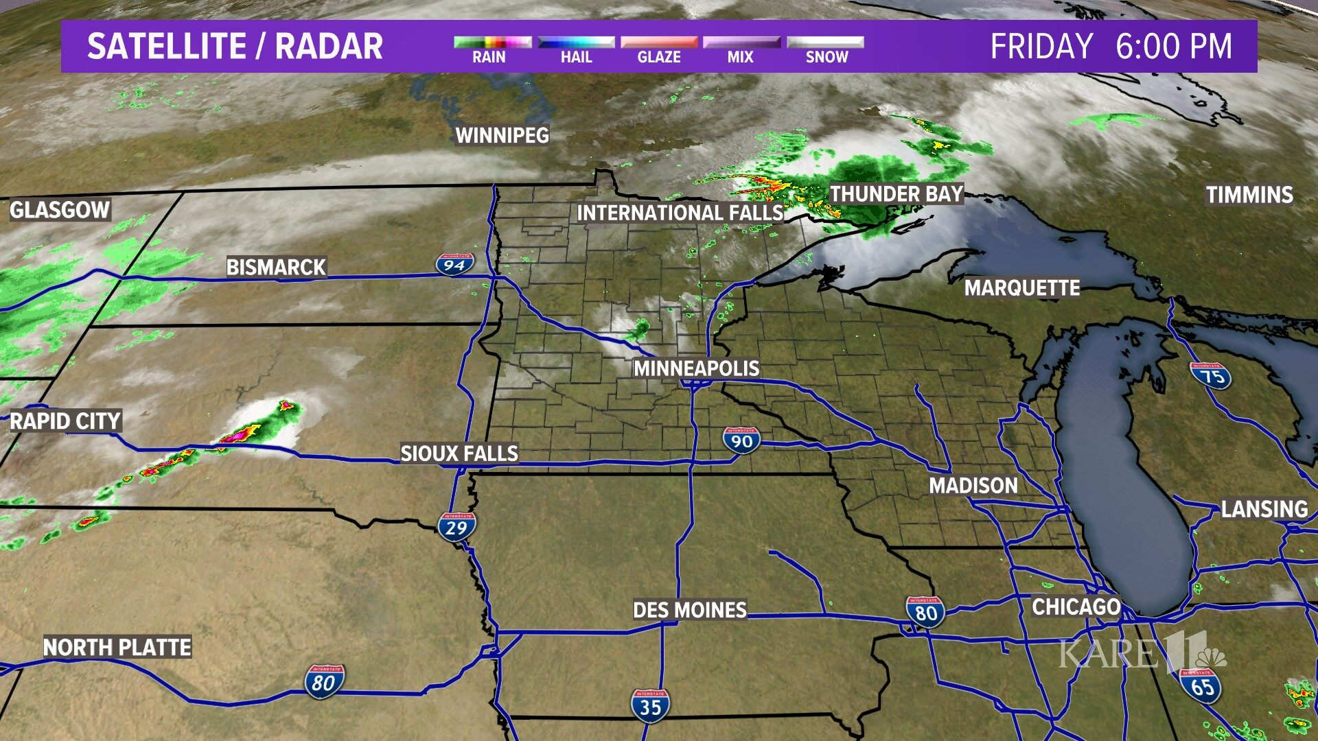 Rockford Weather Map.Minnesota Weather On Kare11 In Minneapolis