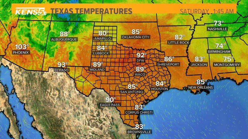 Texas Temperatures