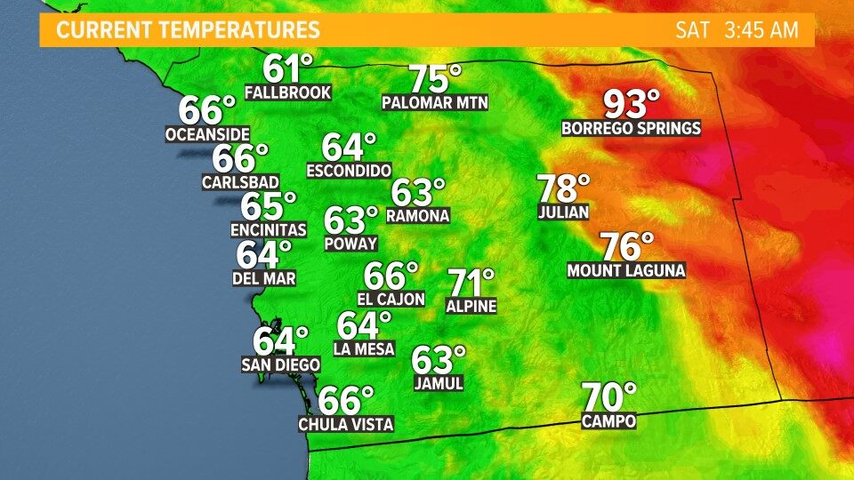 San Diego Weather Map San Diego Weather Maps | cbs8.com