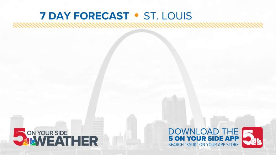Ksdk Weather Map.10 Day Forecast On Ksdk In St Louis
