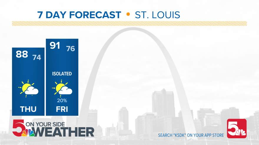 10 Day Forecast on KSDK in St  Louis