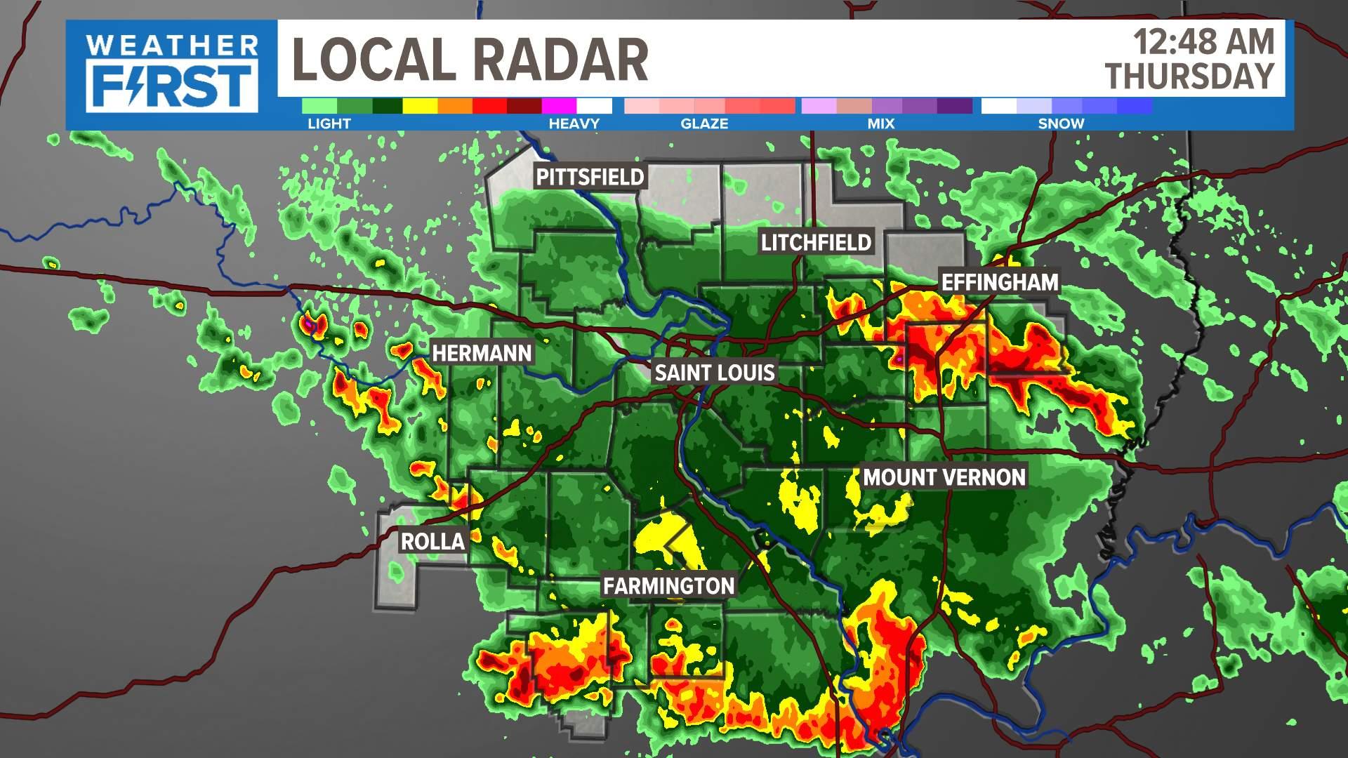 Tv Weather Map.Radar Weather St Louis Ksdk Com