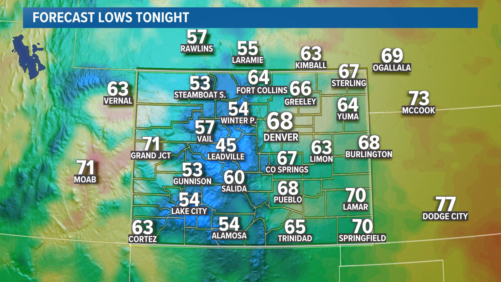 Regional Lows Tonight