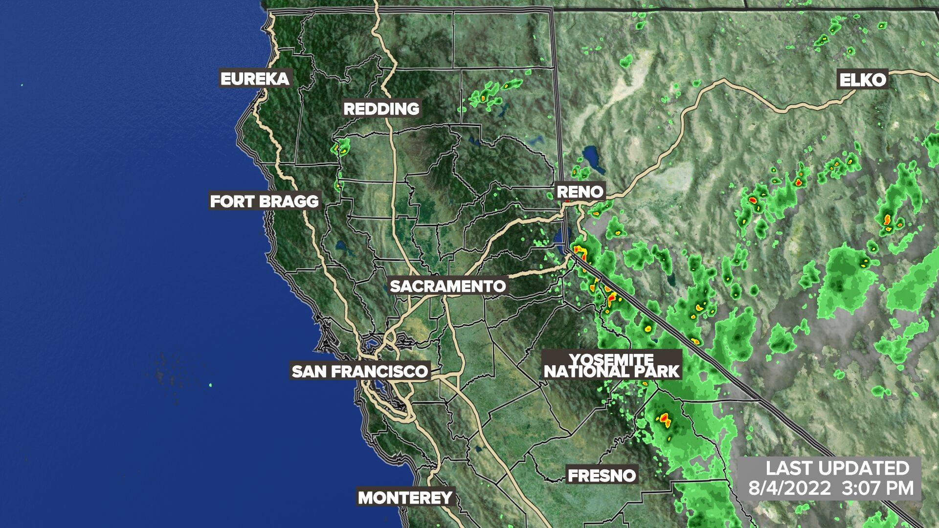 California Weather Map Satellite.Sacramento Weather On Abc10 In Sacramento