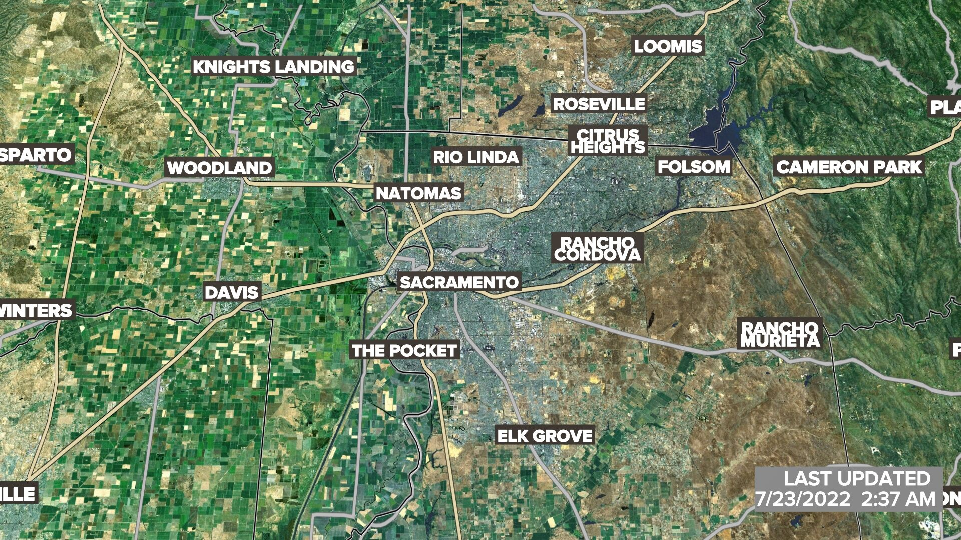 Sacramento Area Satellite Radar