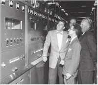 Then TV star Ronald Reagan visits WNEP-TV.
