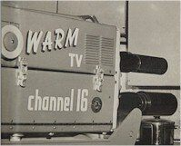 WARM-TV camera used on the show 'At Home with Janet' in the 1950s