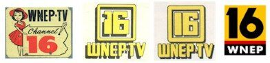 The past and present logos of WNEP