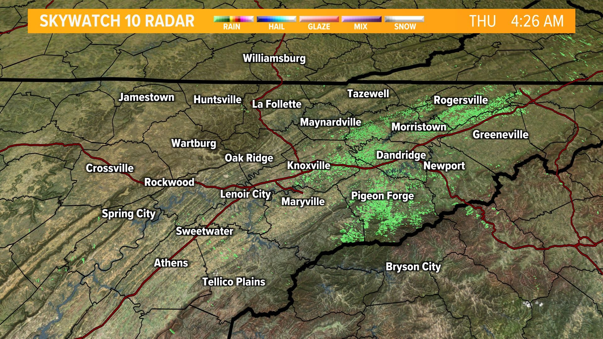 East Tennessee Interactive Radar on WBIR in Knoxville