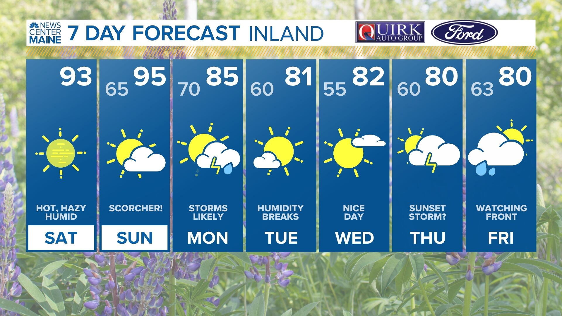 10 Day Forecast on WCSH in Maine