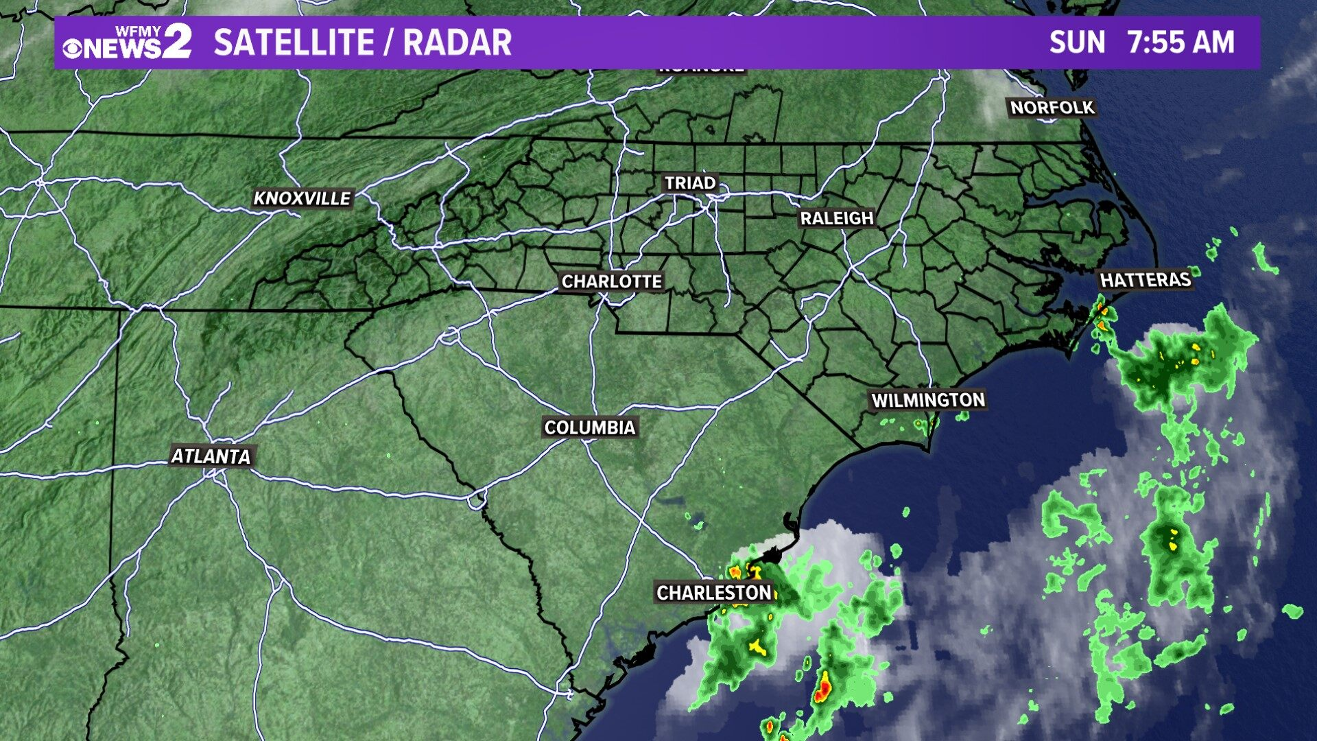 Carolinas Satellite and Radar
