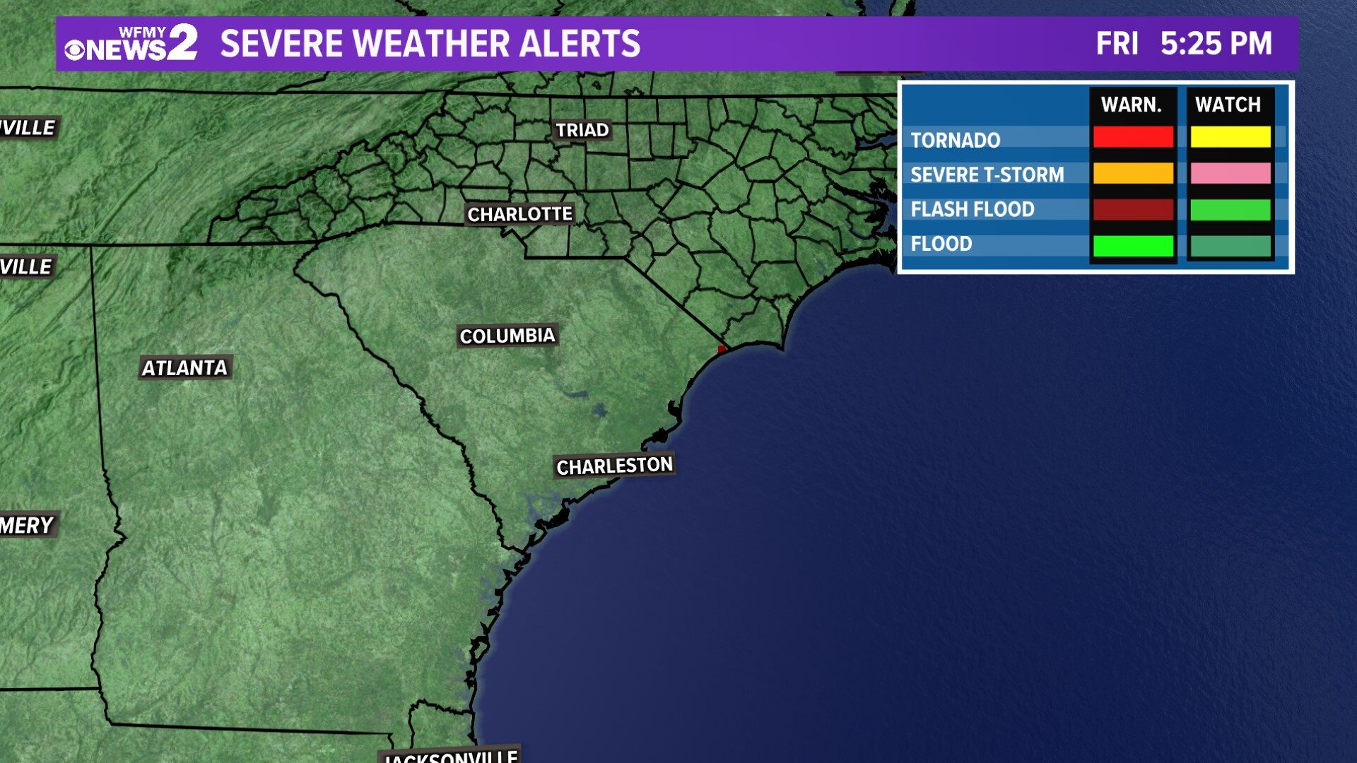 Carolinas Severe Weather Alerts