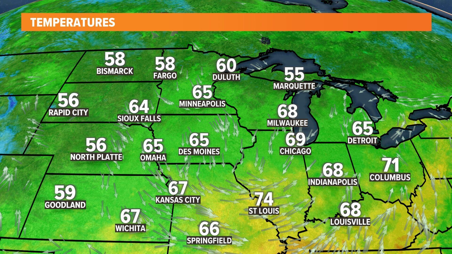 Midwest Temperatures