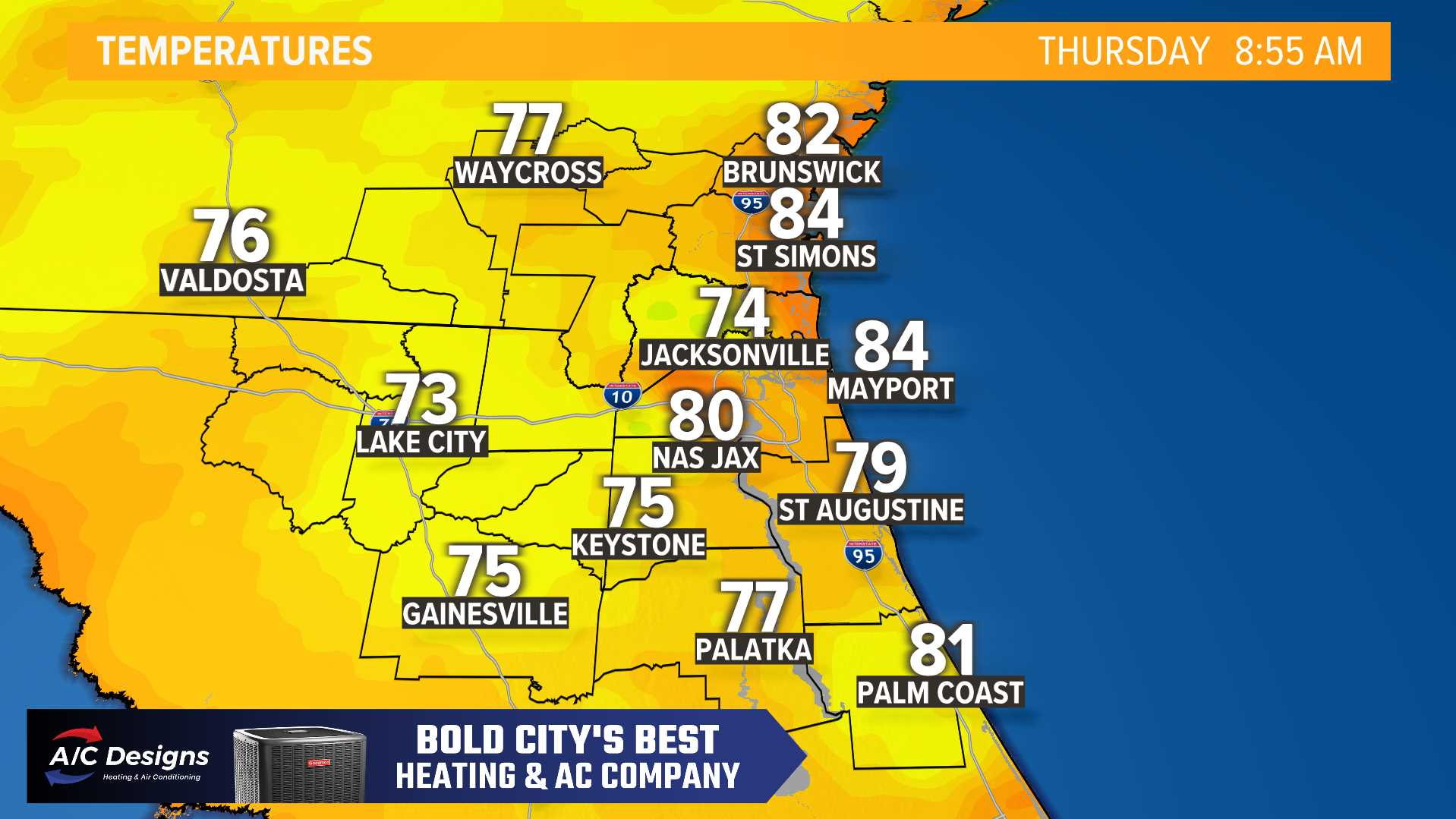 Weather Maps On Wtlv In Jacksonville