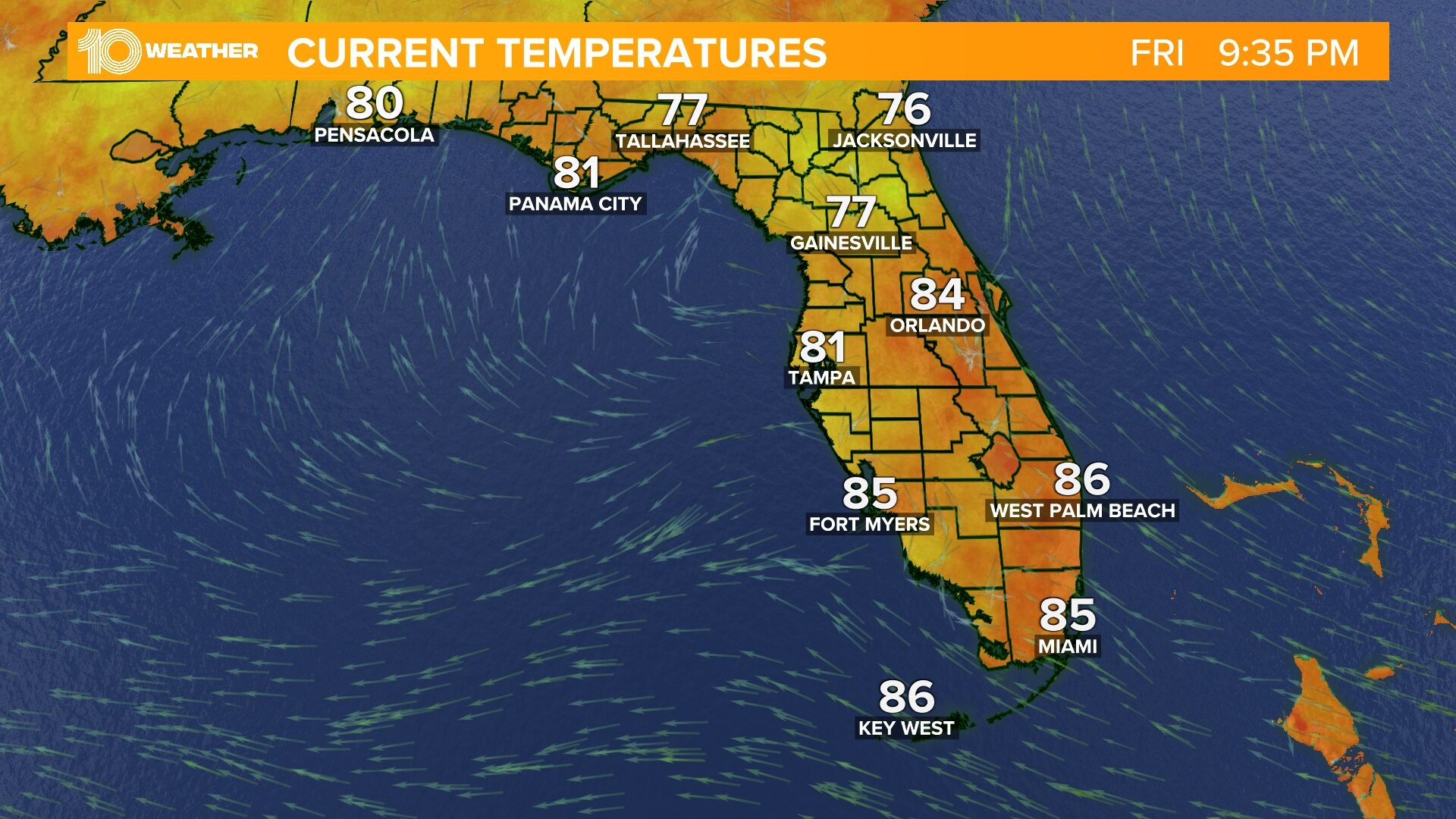 Weather Florida Map.Weather Maps On 10news In Tampa Bay And Sarasota