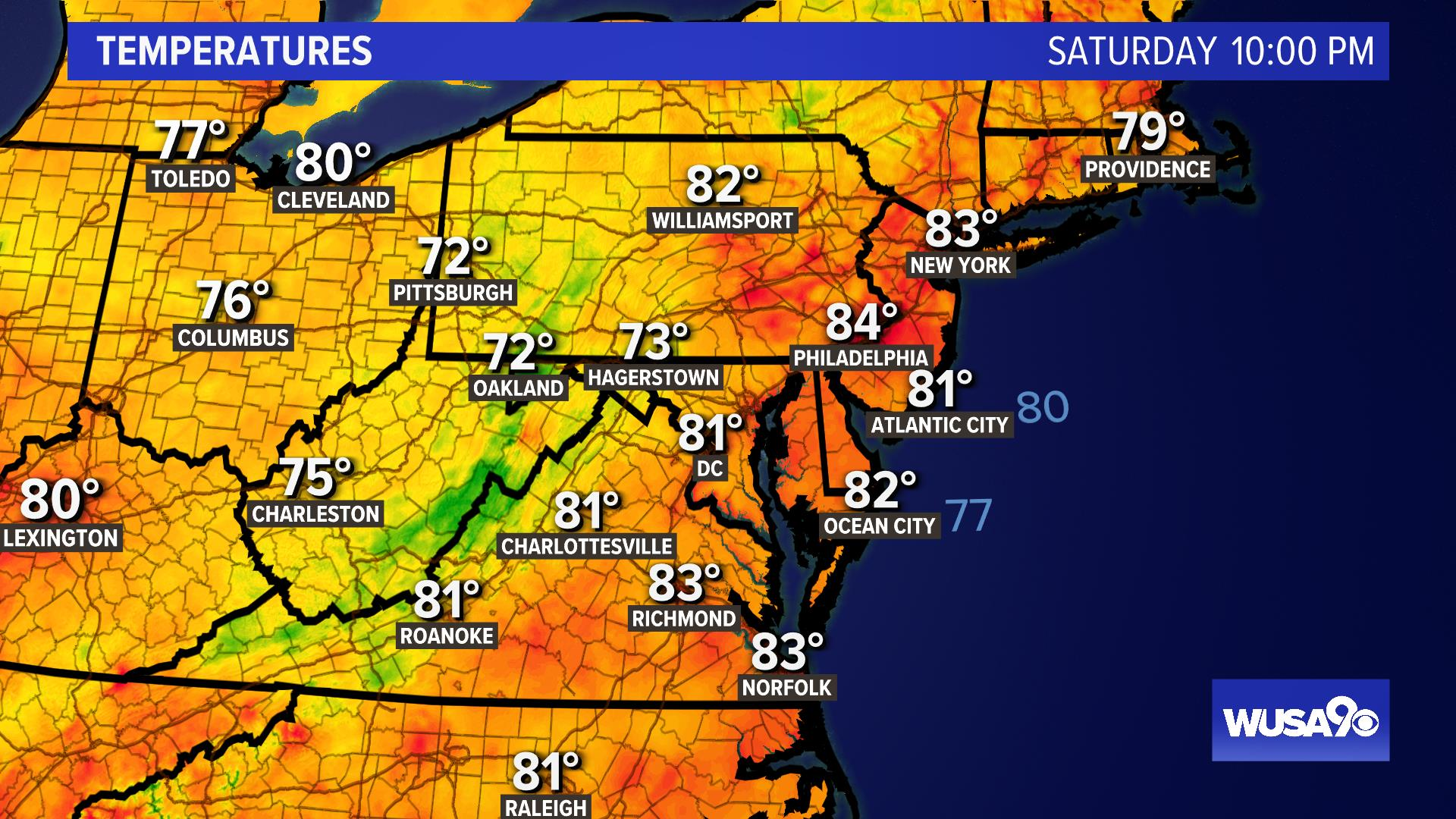 Mid-Atlantic Temps