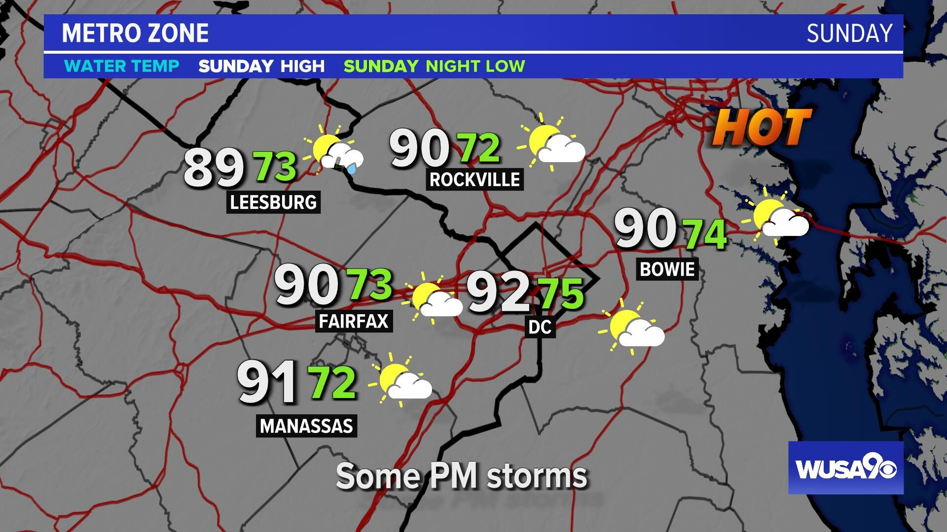 Weather Maps on WUSA9 in Washington, DC on