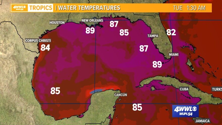 Gulf Sea Surface Temperatures