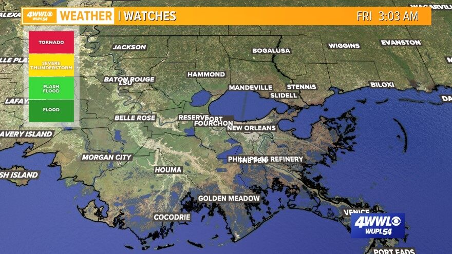 Weather Maps on WWL in New Orleans