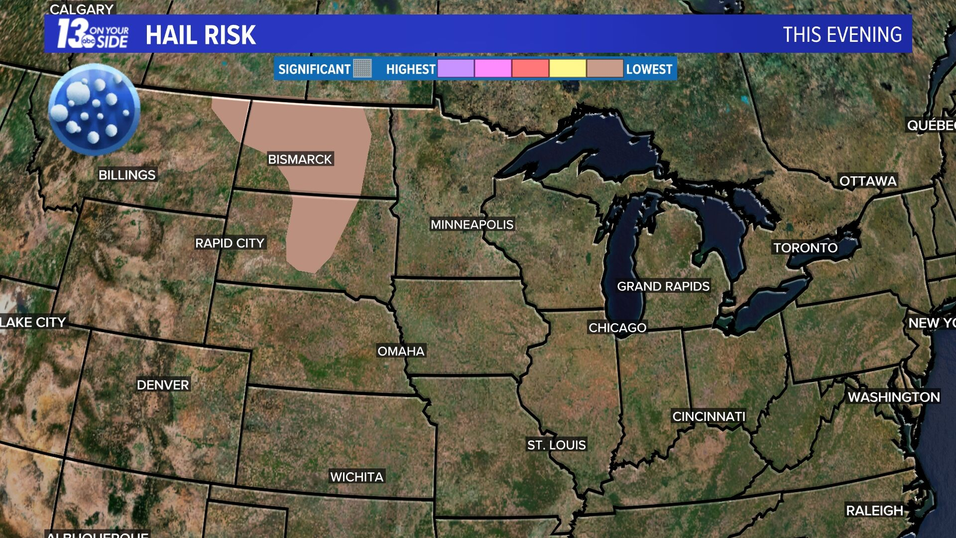 Today's Hail Risk