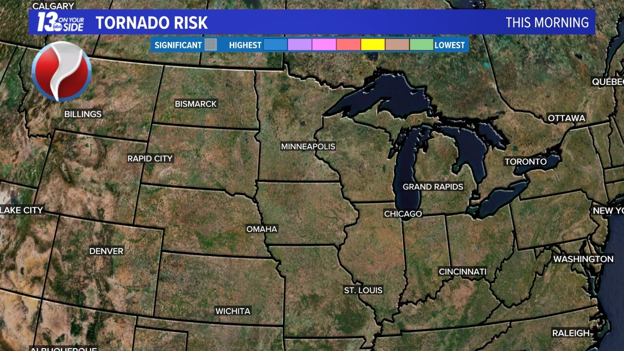 Today's Tornado Risk