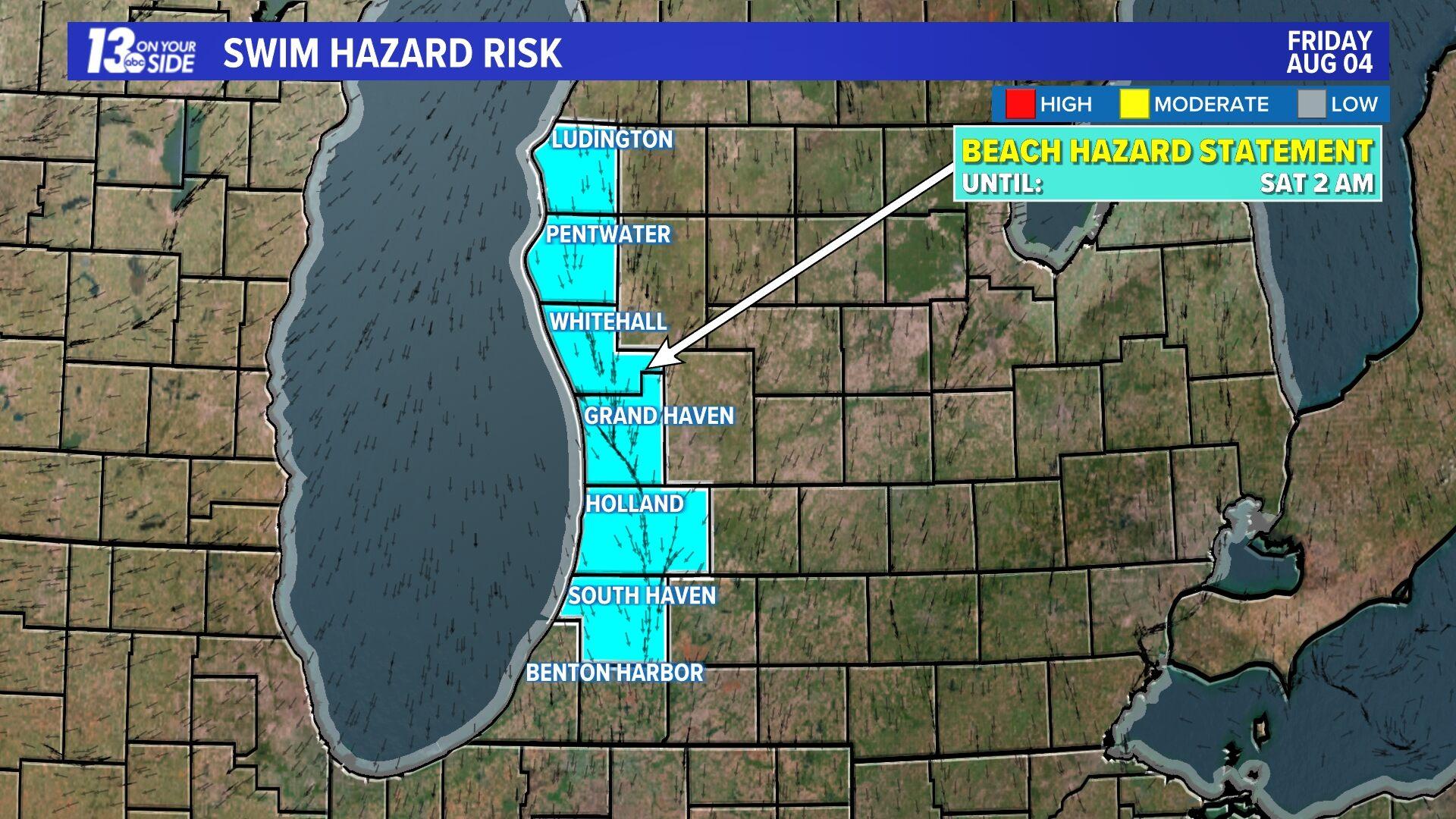 Lake Michigan Rip Current Risk